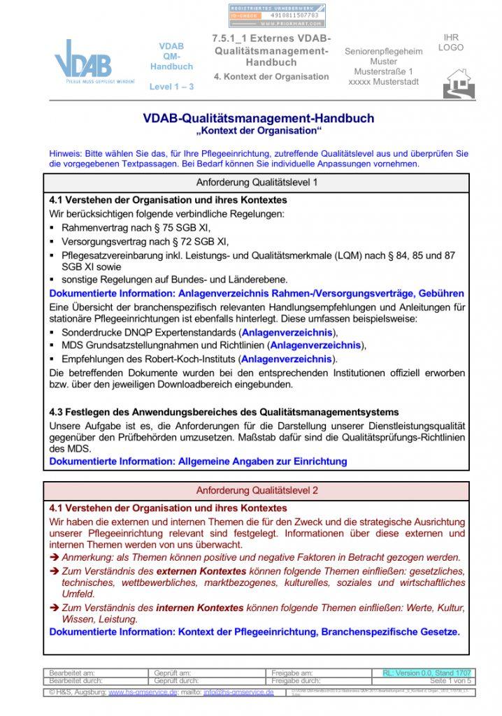 Externes QM-Handbuch