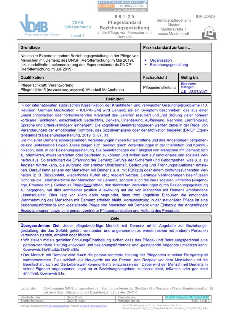 Internes QM-Handbuch